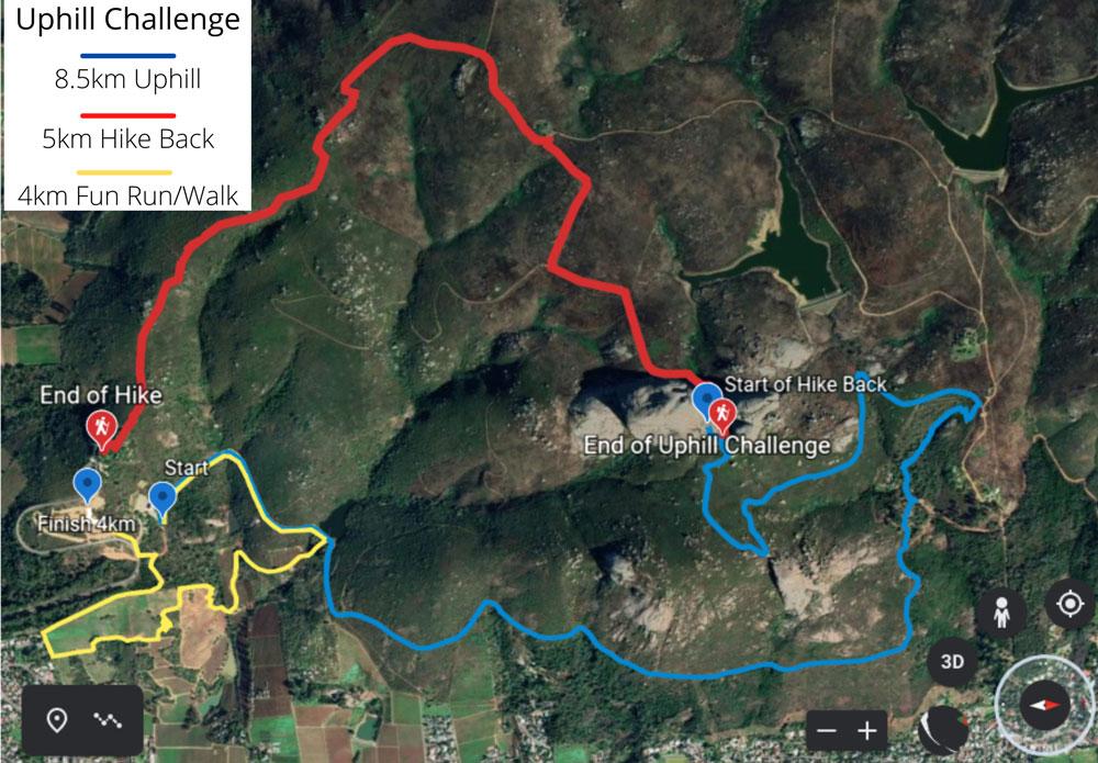 Uphill-Challenge-Map-4km-&-8